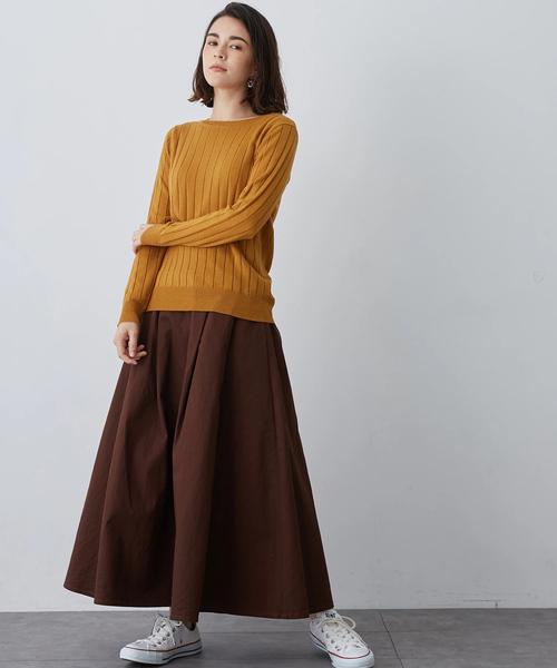 デルトンベルト付キフレアースカート