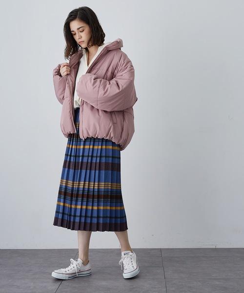 [SEVENDAYS=SUNDAY] マルチボーダーニットプリーツスカート