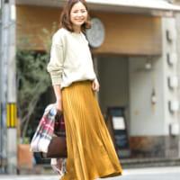 秋の大人女性スタイル♡「タイト&フレアスカート」の着まわしコーデ術