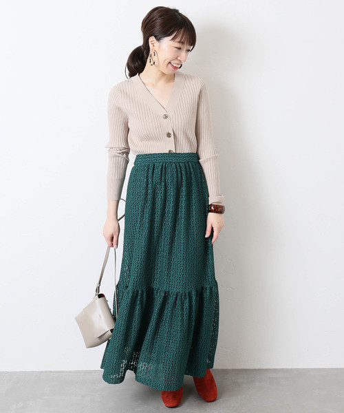 LACE Tiered:スカート