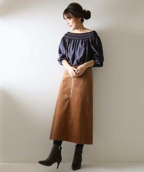 トコール フロントZIPスカート
