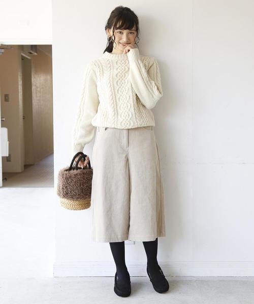 [coen] 【昨年大人気】エコファーフラットシューズ(モカシン/スリッポン)