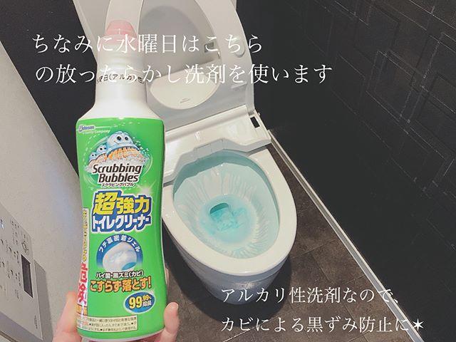 トイレはこすり洗いしない