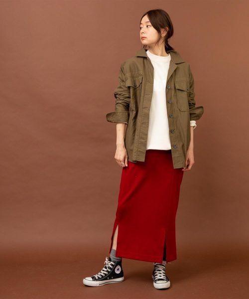 【Made in JAPAN】セミタイトロングスカート