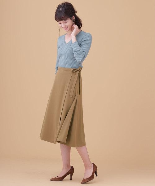 サイドフレアリボンスカート