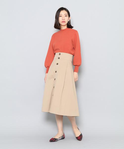 ストレッチバルーンスリーブセーター