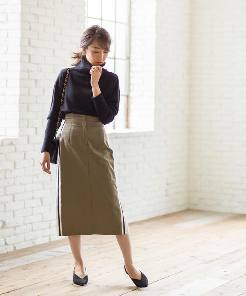 サイドラインスリットタイトスカート