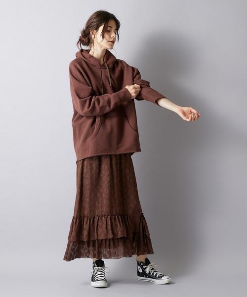 [Whim Gazette] GEMINI/レオパードジャガードスカート