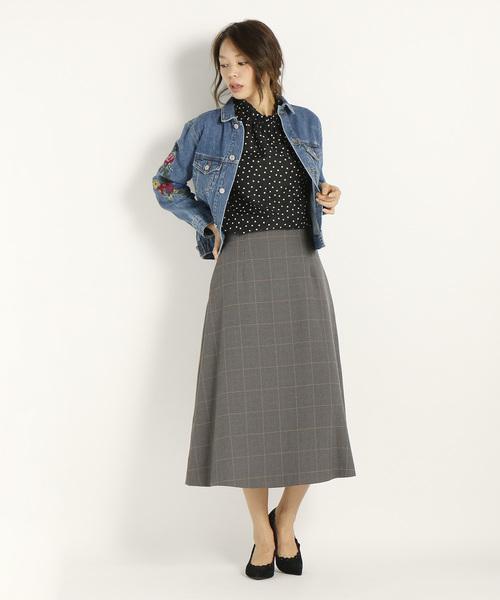 ルカデニム 刺繍Gジャン ジャケットスカート