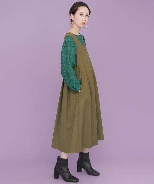 BIGプリーツジャンパースカート