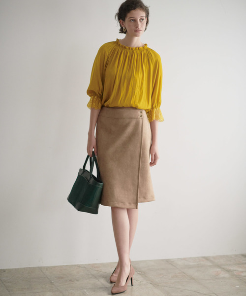 スエードボンディング スカート