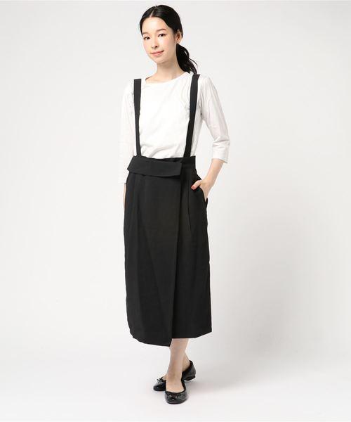 [AMERICAN HOLIC] ラップ風サス付スカート