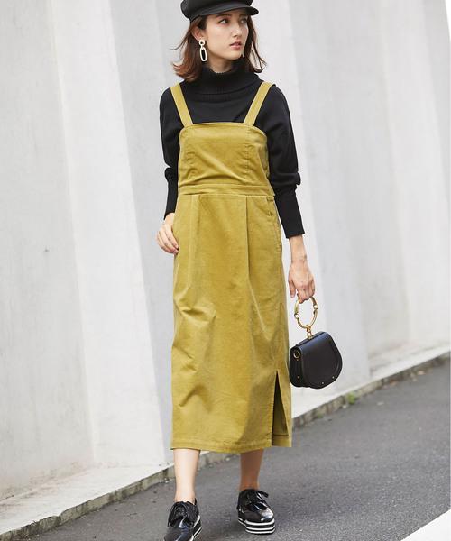 コーデュロイビスチェ風ジャンパースカート