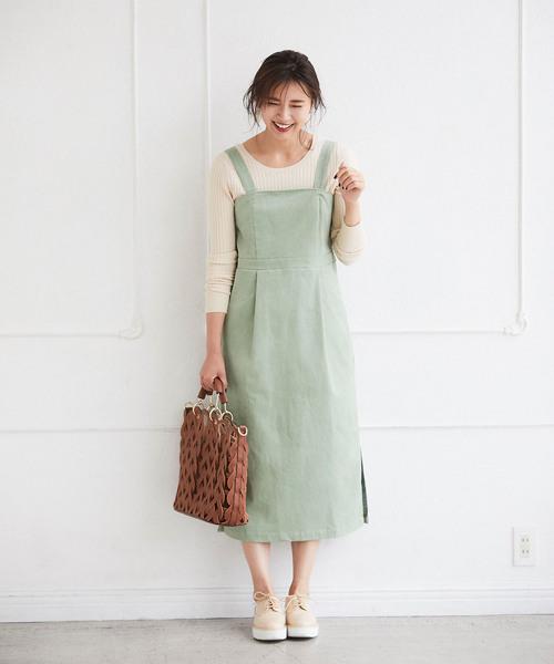 [tocco closet] コーデュロイビスチェ風ジャンパースカート