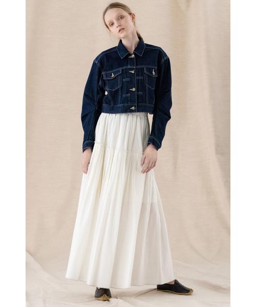デニムショートジャケットスカート2
