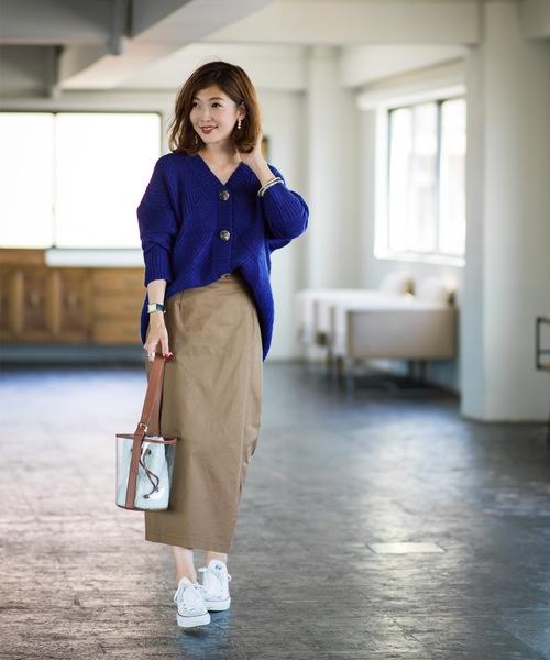 [tocco closet] 《Noriko & Michiko Collaboration Collection》模様編みオーバーサイズニットカーデ