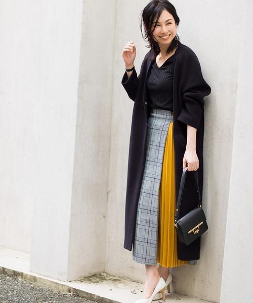 [tocco closet] 《Noriko & Michiko Collaboration Collection》ウール混オーバーサイズノーカラーコート