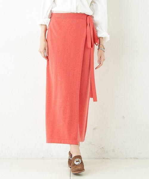 [Whim Gazette] カシミヤラップスカート