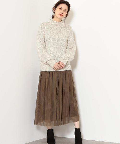 [green label relaxing] NFC チュール フレア スカート