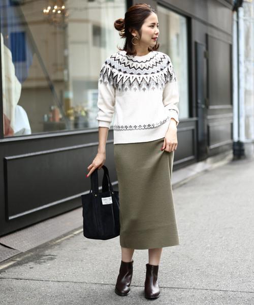 ミラノリブニットタイトスカート