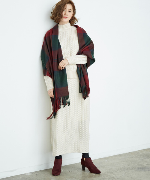 【WEB限定】【セットアップ対応】ケーブル編みスカート