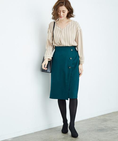 ウーリッシュフラノアイラインスカート