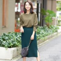 フェミニンラインで素敵に季節感アップ♡ニットスカートの秋冬スタイル15選