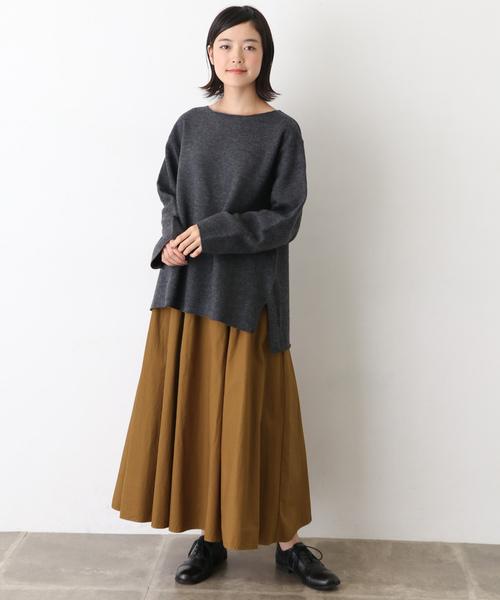 ギャザーロングオーバーダイスカート