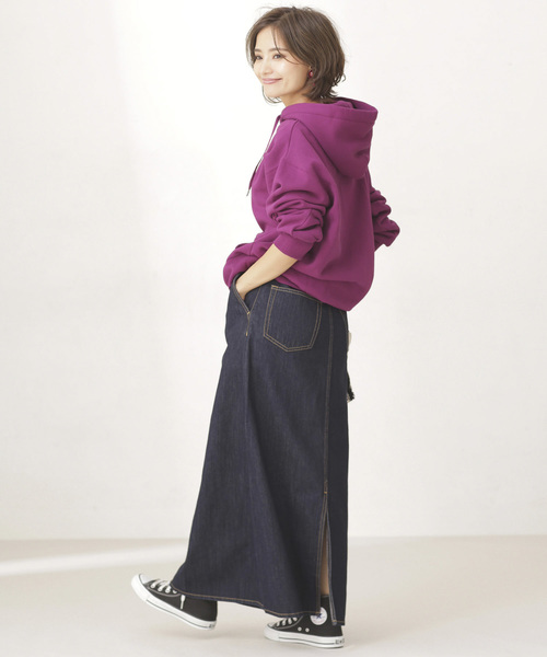 デニムマキシスカート1