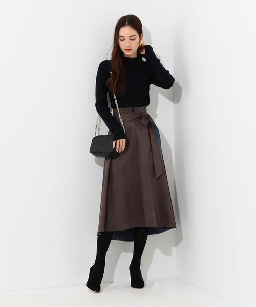 CS スエードライク ボンディングスカート