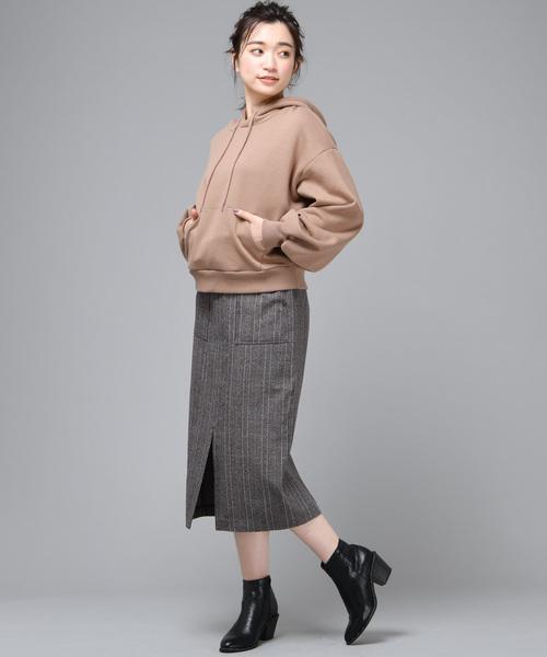 チェック柄ナロータイトスカート2