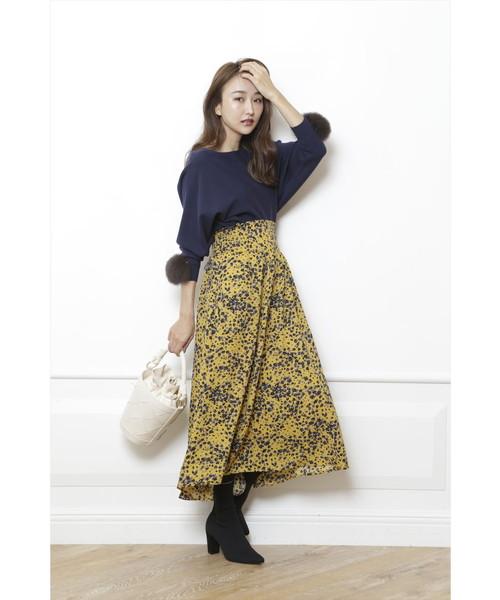 小花フレアスカート