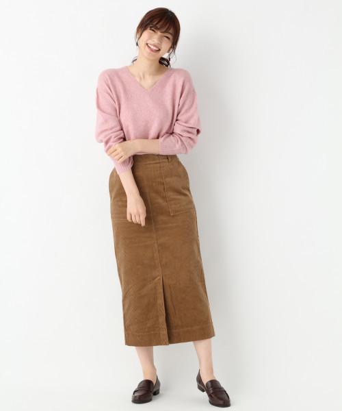 [GLOBAL WORK] 【CLASSY.11月号掲載】コーデュロイタイトスカート/805749