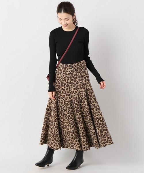 HACHE レオパードスカート