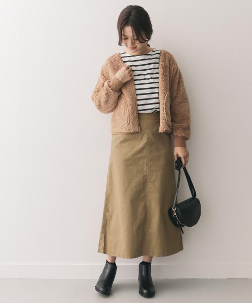 [URBAN RESEARCH DOORS] スラブチノロングスカート