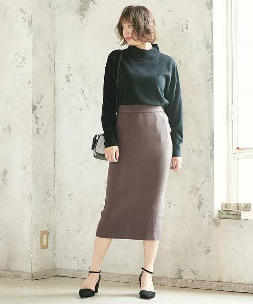 ストレッチリブニットタイトスカート
