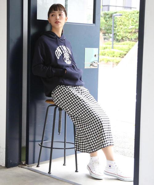 [coen] 【1M】シームレス裏毛カレッジプリントパーカー/フーディー