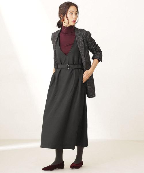【WEB限定】ウェストベルト付ジャンパースカート