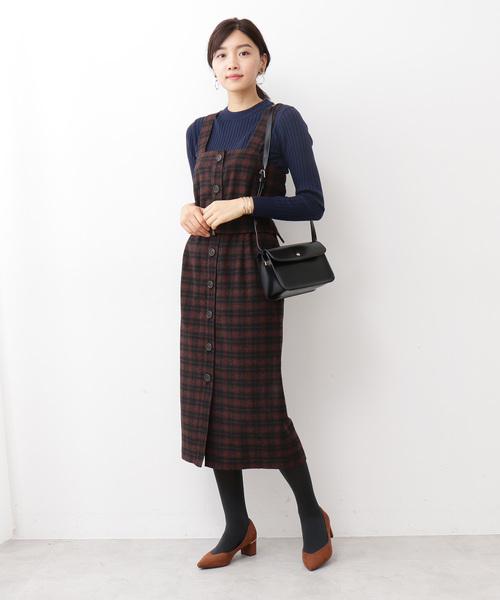 ◆フロント釦ジャンパースカート