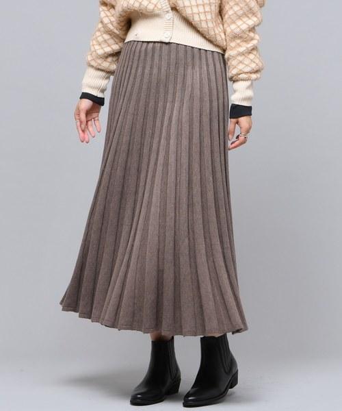 [CIAOPANIC] ニットプリーツスカート