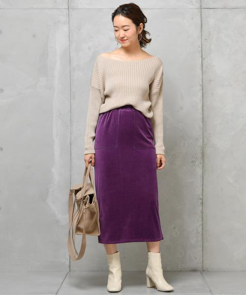 ベロアタイトスカート
