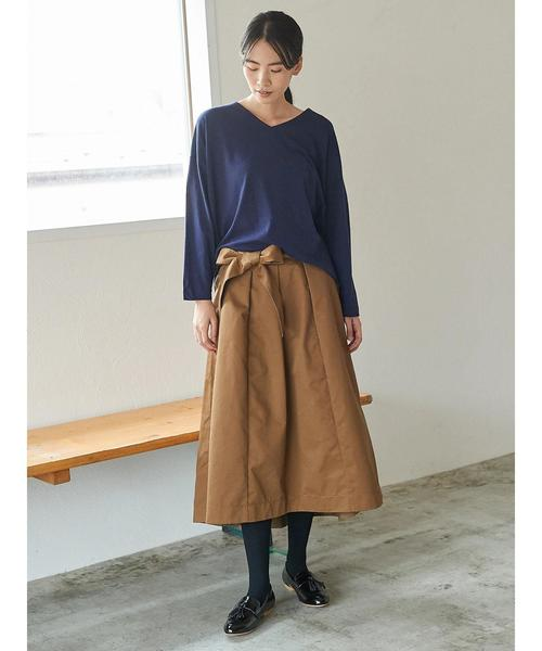 [AMERICAN HOLIC] ・ウエストリボン裾フレアスカート