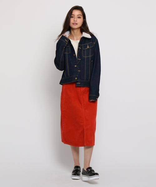 Lee (リー)ファーネックデニムジャケットスカート