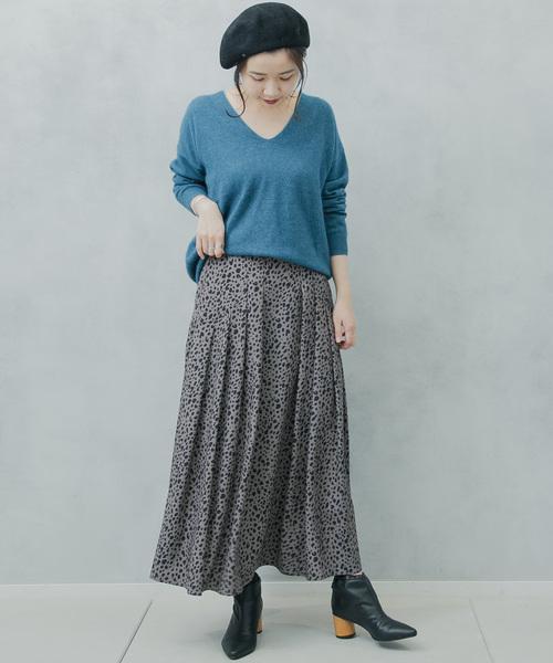 レオパードロングスカート1