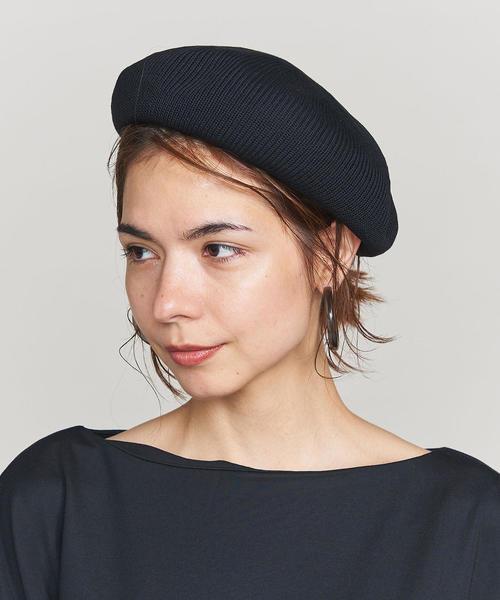BY ソリッドシンプルベレー帽