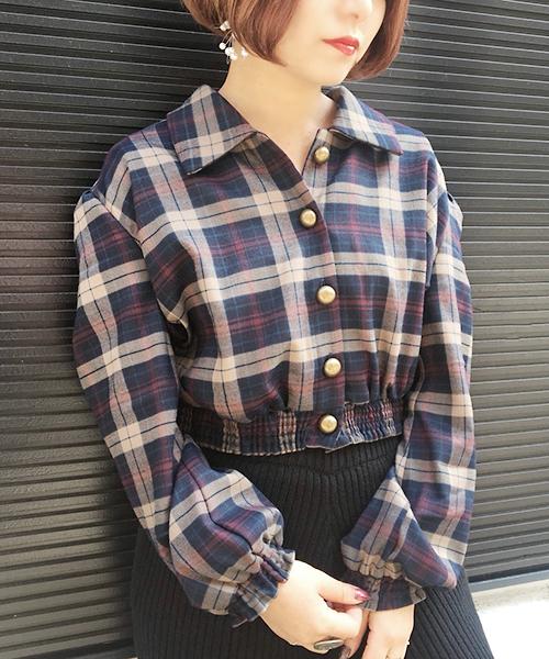 ヴィンテージボタンチェックシャツ