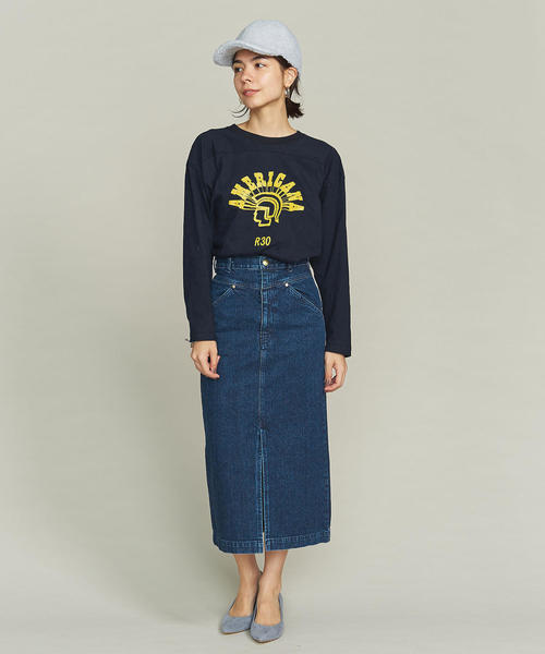 デニムスリットタイトスカート