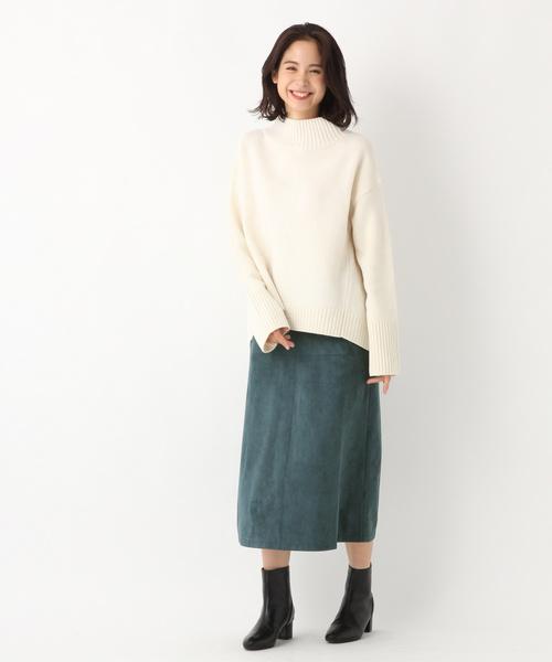 スエードギャザースカート2