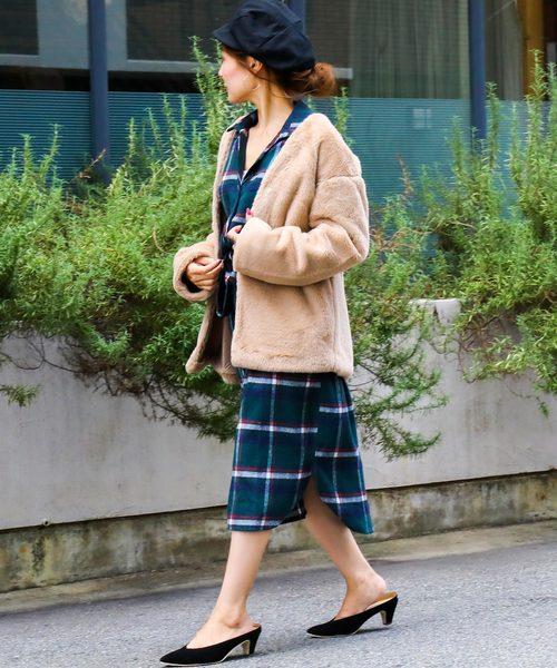 [Fashion Letter] ファー ショート カーデ ジャケット