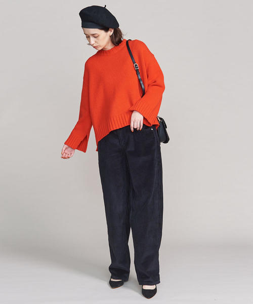 [BEAUTY&YOUTH UNITED ARROWS] BY ウールスリットクルーネックニット